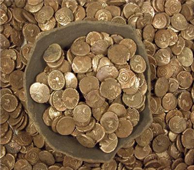 Клад кельтских монет