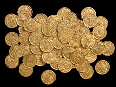 Золотые древнеримские монеты