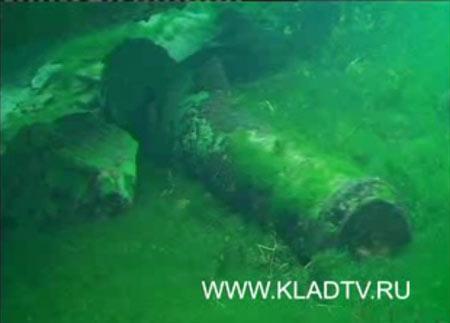 Старинная пушка на дне Байкала www.kladtv.ru